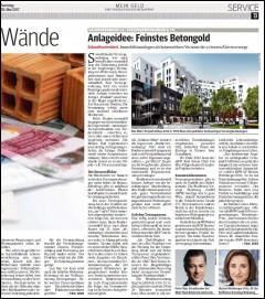 Artikel aus dem Kurier über Immobilienanlage als krisensichere Variante