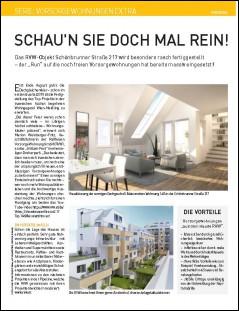 Presseartikel aus dem Immokurier über das Projekt Schönbrunner Straße 217. Die Fertigstellung naht.