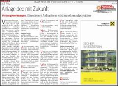 Artikel des Kurier über das A bis Z der Vorsorgewohnung
