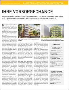 Artikel des Immokurier über die aktuellen Projekte der RVW im November 2015