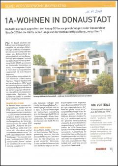 Bericht des Immokuriers über das Projekt Donaufelderstraße 255 im 22. Bezirk